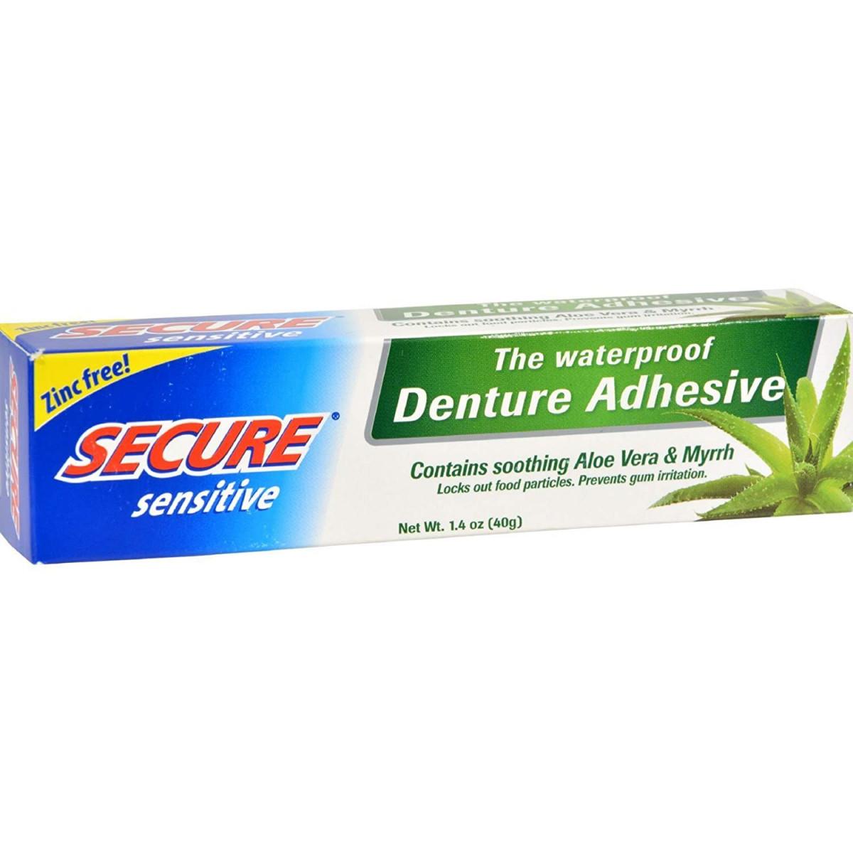 Secure Denture Adhesive >> Secure Denture Adhesive Sensitive 1 4 Oz 3 Pack