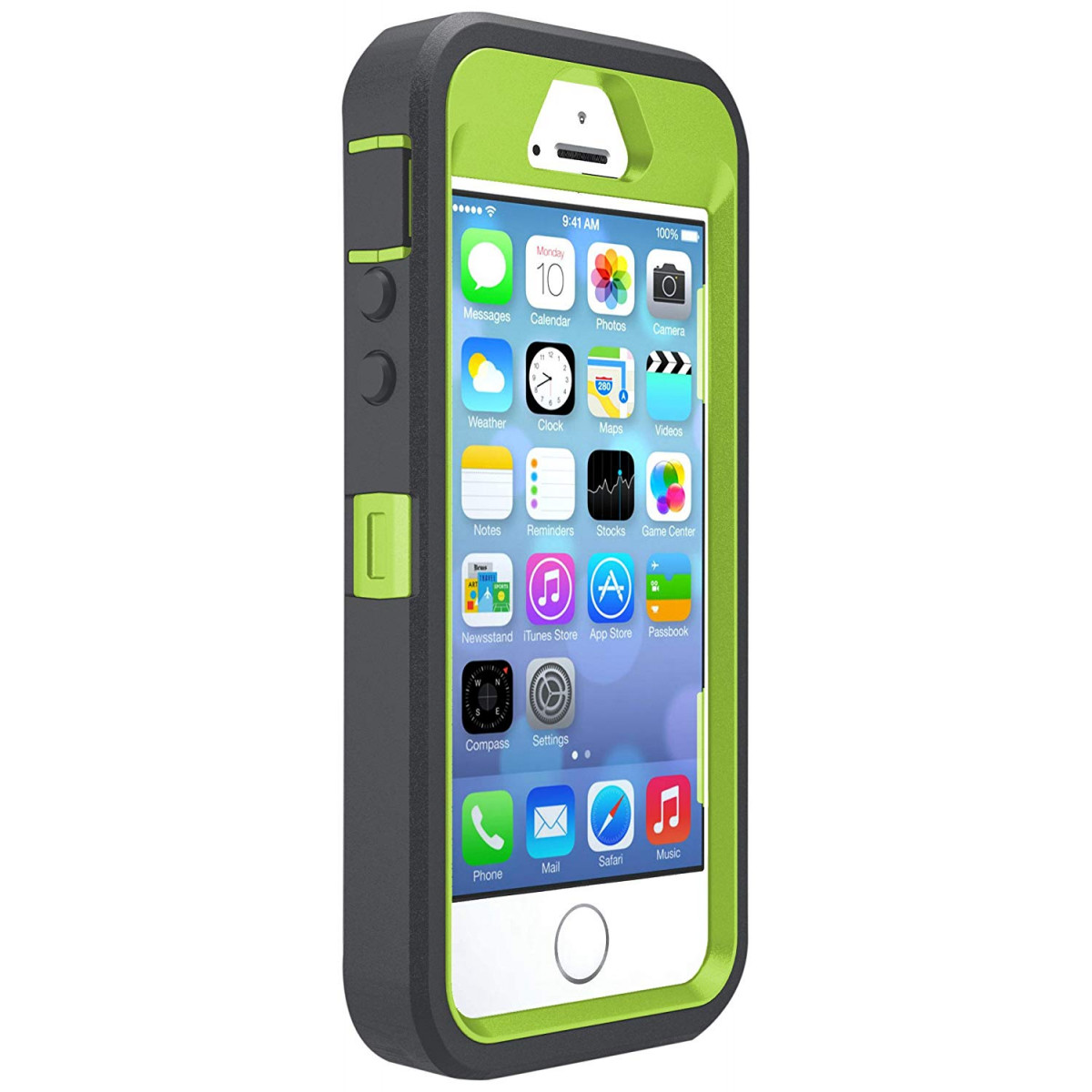 new concept 59663 9a760 OtterBox DEFENDER SERIES Case for iPhone 5/5s/SE - Frustration Free  Packaging - KEY LIME (GLOW GREEN/SLATE GREY)