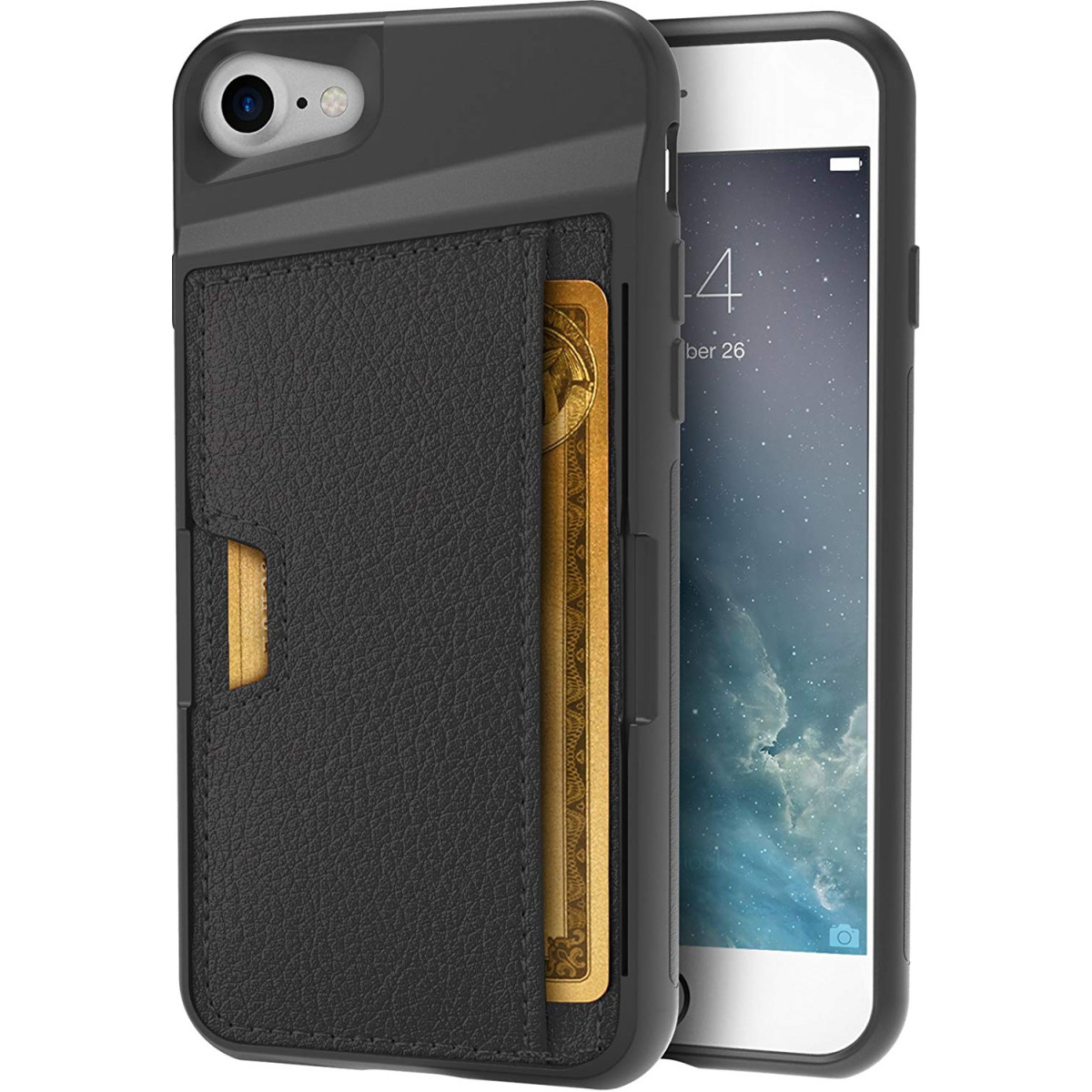 online store 416be 58721 Silk iPhone 7/8 Wallet Case - Q Card CASE [Slim Protective Kickstand CM4  Grip Cover] - Wallet Slayer Vol. 2 - Black Onyx