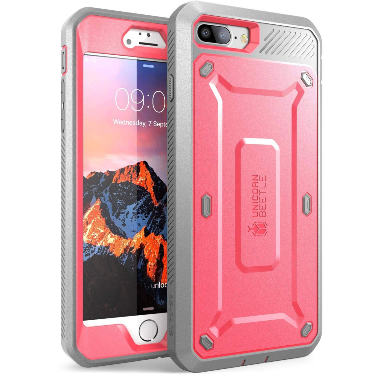 huge selection of 00027 58812 SUPCASE iPhone 7 Plus Case, iPhone 8 Plus Case, Unicorn Beetle Pro Series  Full-body Rugged Holster Case with Built-in Screen Protector for iPhone 7  ...