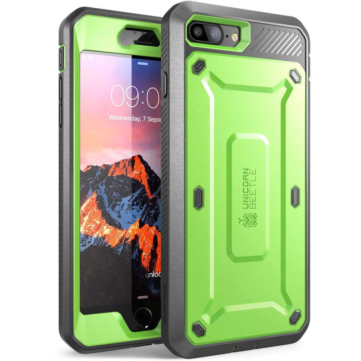 huge selection of 429d9 37b0a SUPCASE iPhone 7 Plus Case, iPhone 8 Plus Case, Unicorn Beetle Pro Series  Full-body Rugged Holster Case with Built-in Screen Protector for iPhone 7  ...