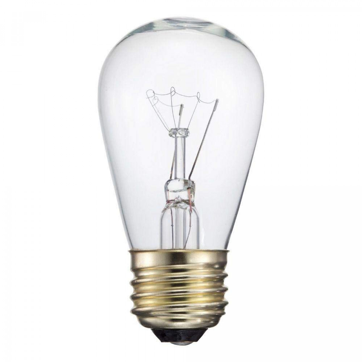 Box of 25 S14 CLEAR 11 Watt E26 Base Replacement Bulbs
