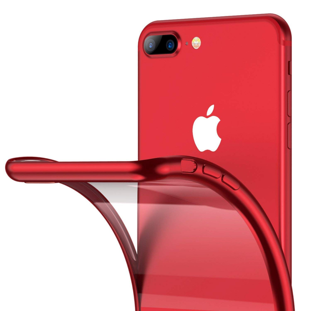 the best attitude dbf2d 763be RANVOO iPhone 8 Plus Case, iPhone 7 Plus Case, Ultra Slim Thin Clear Soft  Case with Premium Flexible Chrome Bumper and Transparent TPU Back Plate Gel  ...