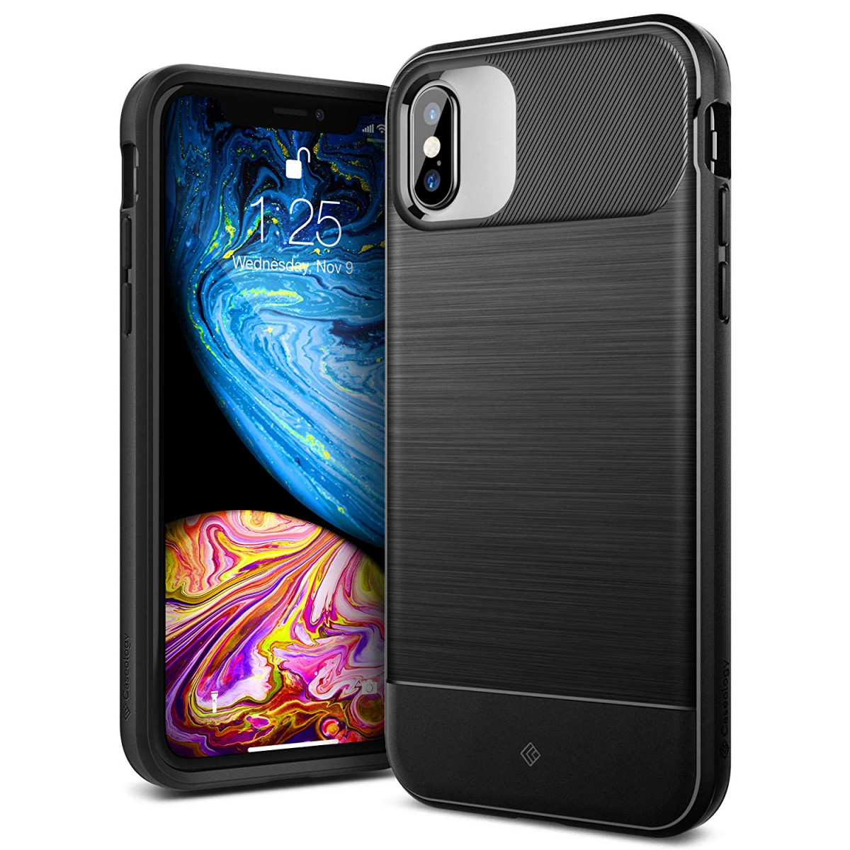 pretty nice a5c8f b8654 Caseology [Vault Series iPhone Xs/iPhone X Case - [Rugged Matte Finish] -  Black