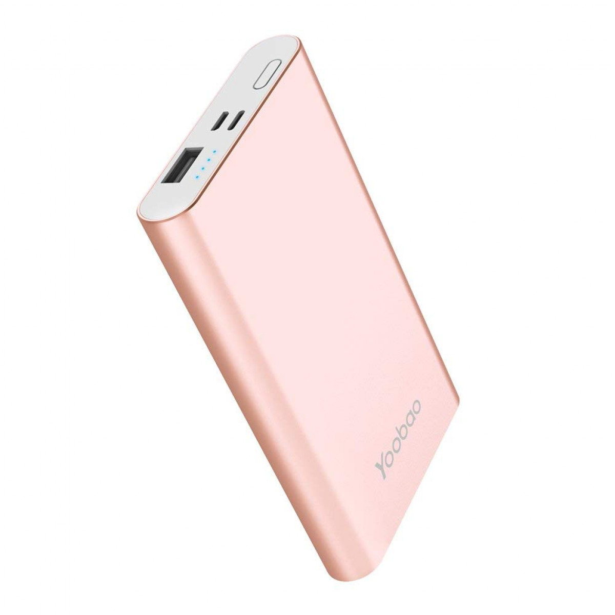 rose gold portable phone charger
