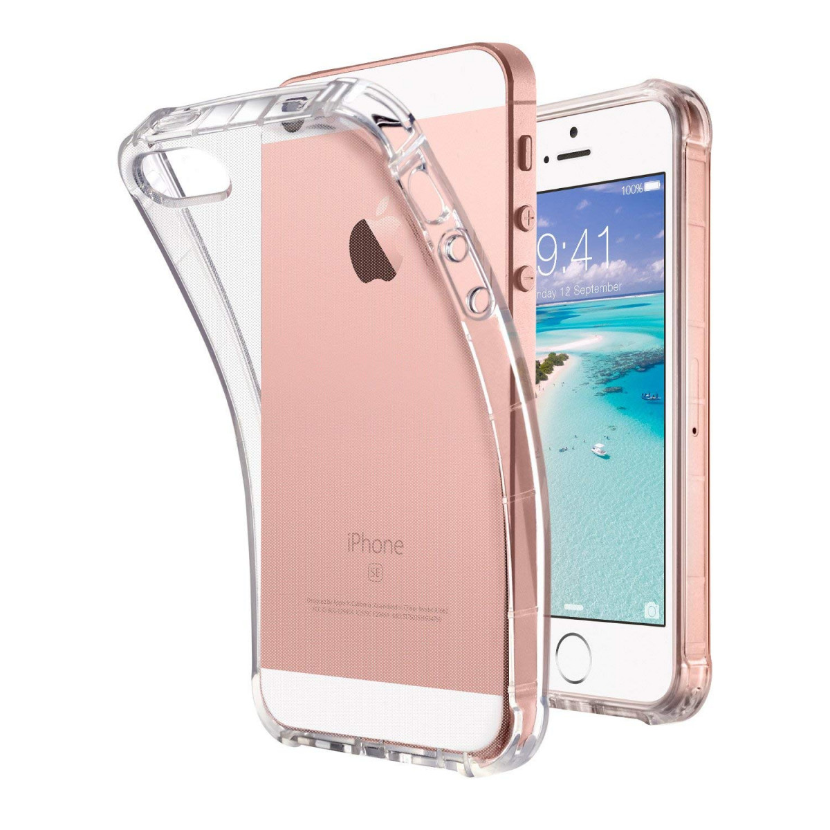 outlet store 345e2 f56c3 ULAK iPhone SE Case Clear, iPhone 5s case, iPhone 5 case, Clear Slim Fit  5/5S/SE Case with Transparent Flexible Soft TPU Bumper Shock-Absorption  Cover ...