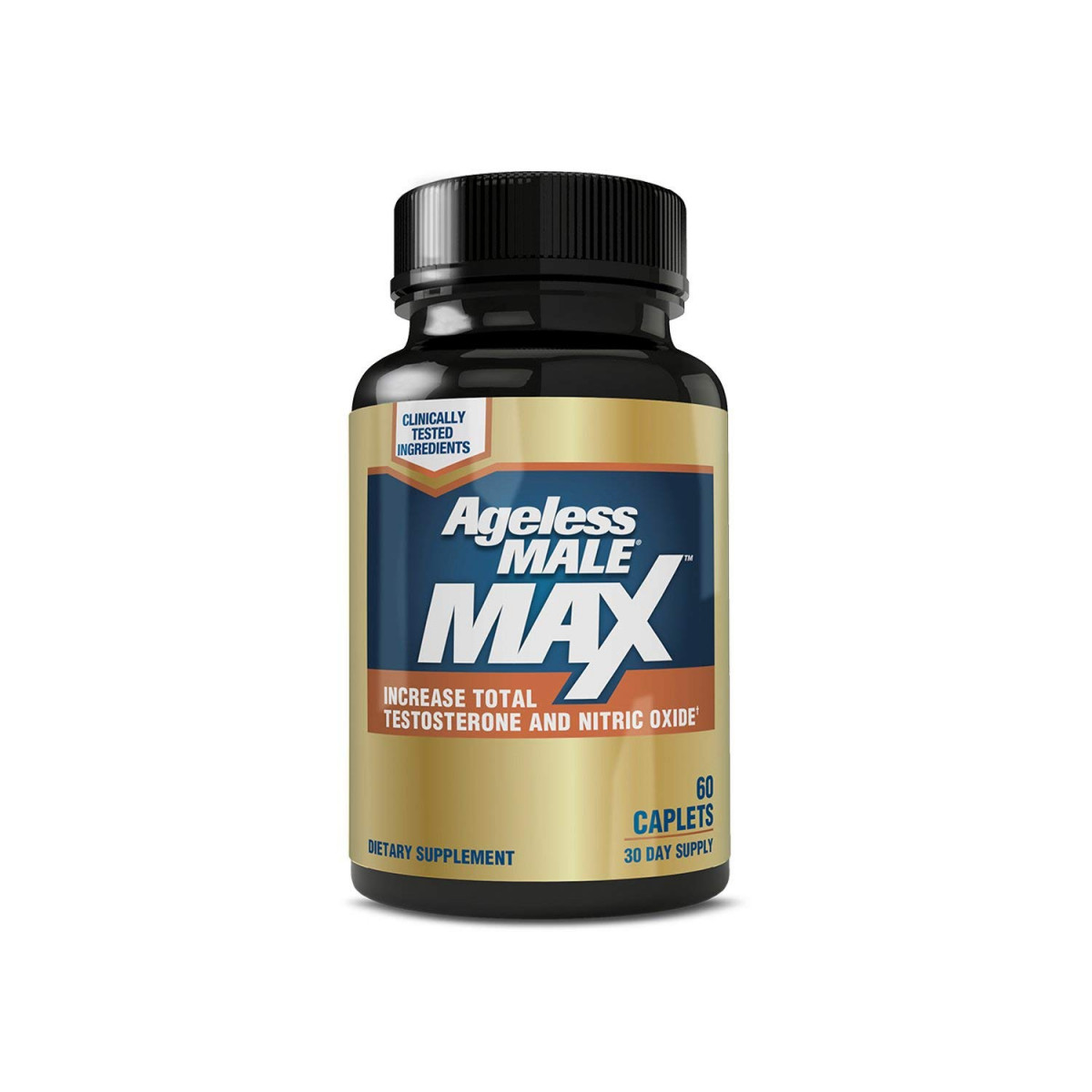 Ageless Male MAX Total Testosterone and Nitric Oxide Booster Supplement for Increasing Muscle