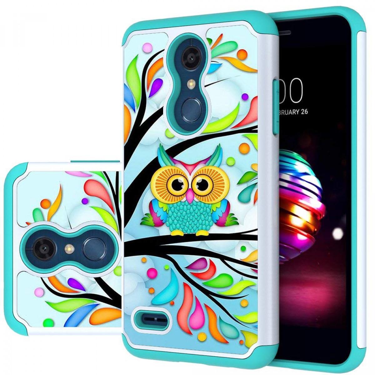 LG K30 Case, LG Phoenix Plus/LG Harmony 2/LG K10 2018/LG Premier Pro  Case,MAIKEZI Hybrid Dual Layer TPU Plastic Phone Case for LG K10 Plus/LG  K10