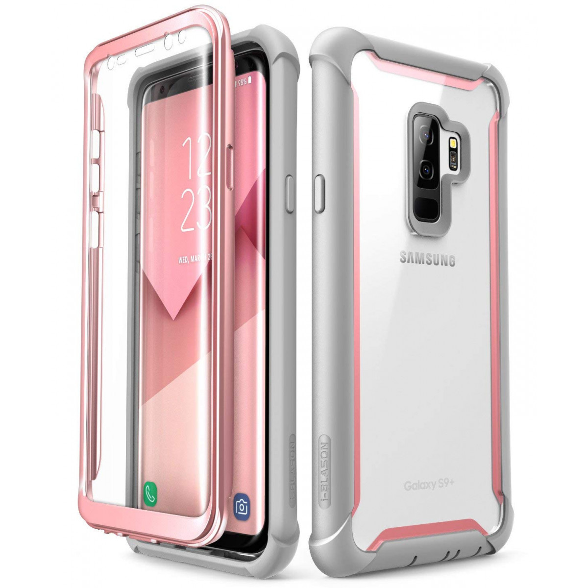 best service d5242 34a1d Samsung Galaxy S9+ Plus case, i-Blason [Ares] Full-Body Rugged Clear Bumper  Case with Built-in Screen Protector for Samsung Galaxy S9+ Plus 2018 ...