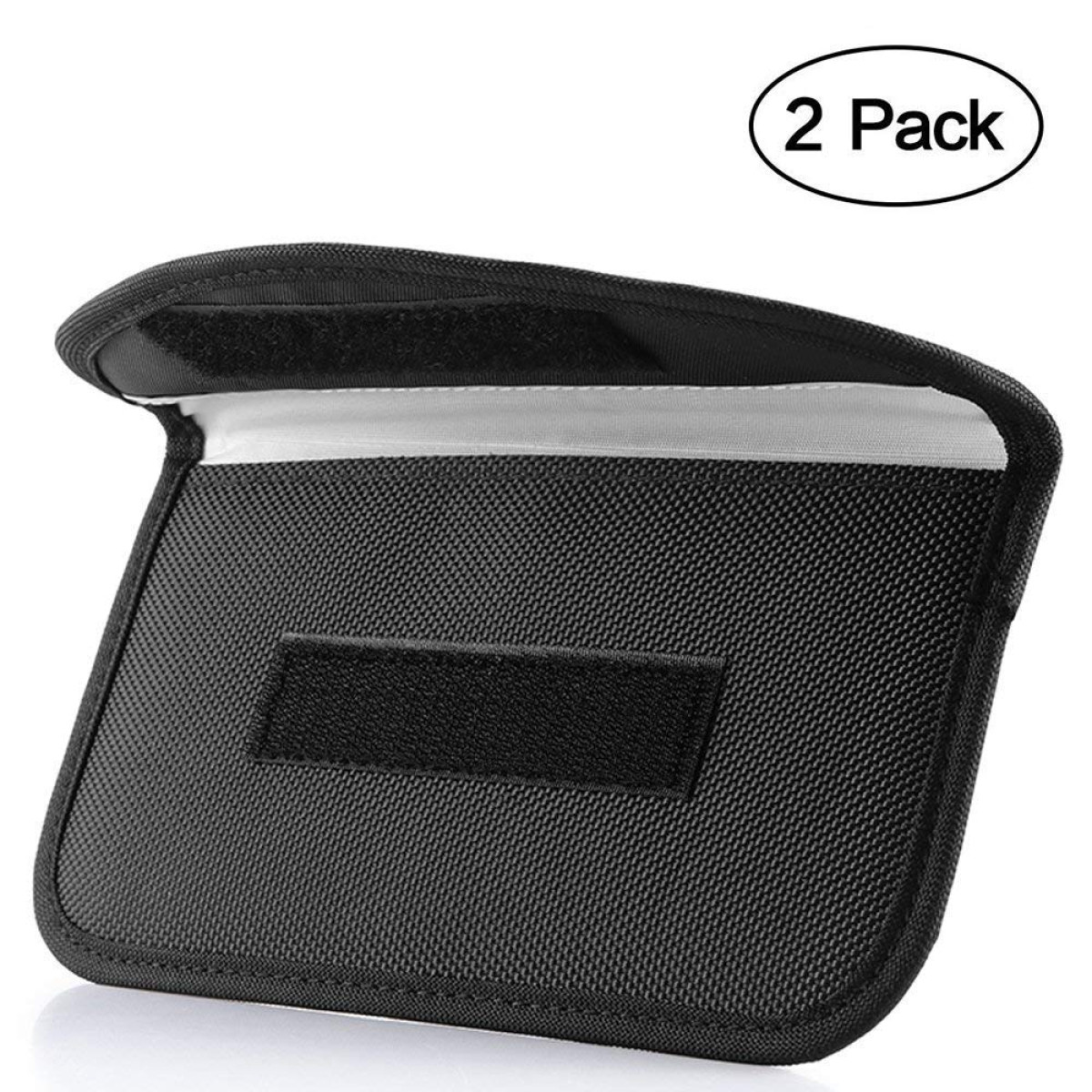 Signal Blocking Bag, ONEVER [2 Pack] GPS Rfid Faraday Bag Shield Cage Pouch  Wallet Phone Case for Cell Phone Privacy Protection and Car Key FOB,