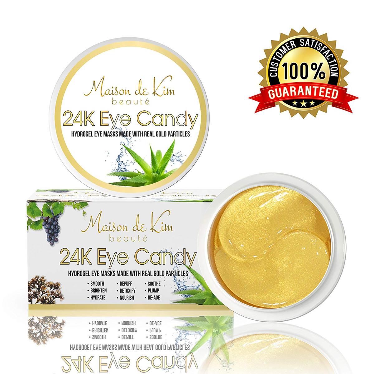 30 Pairs) 24K Gold Eye Masks   Seaweed, Real Gold Particles