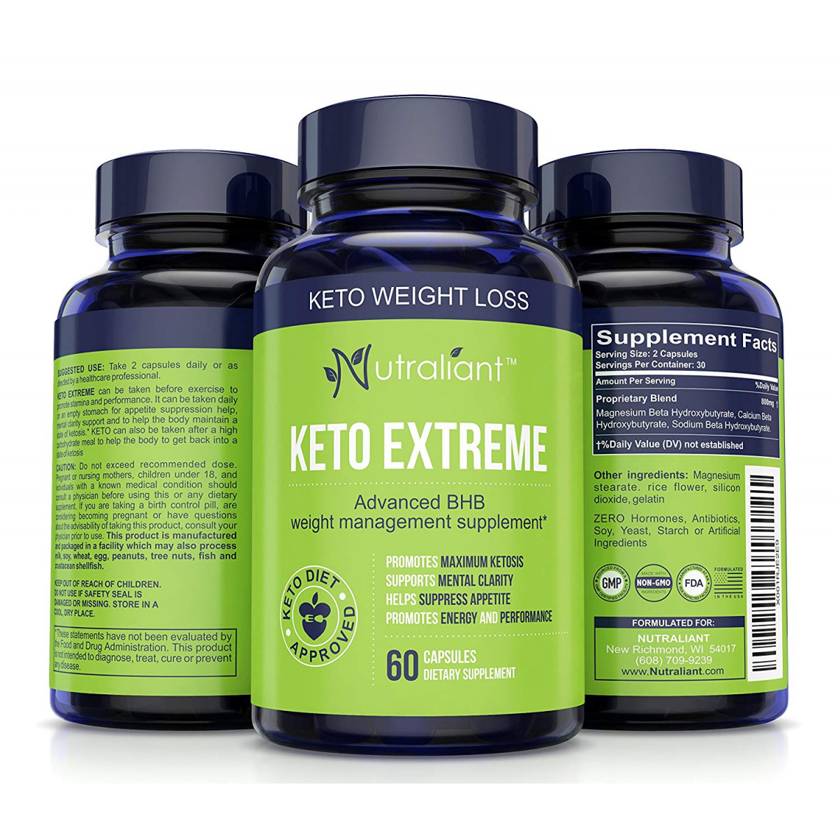 1 Keto Weight Loss Supplement W Bhb Salts Of Magnesium Calcium Sodium Best Ketogenic Fat Burner Diet Pills For Men And Women Boosts Energy And