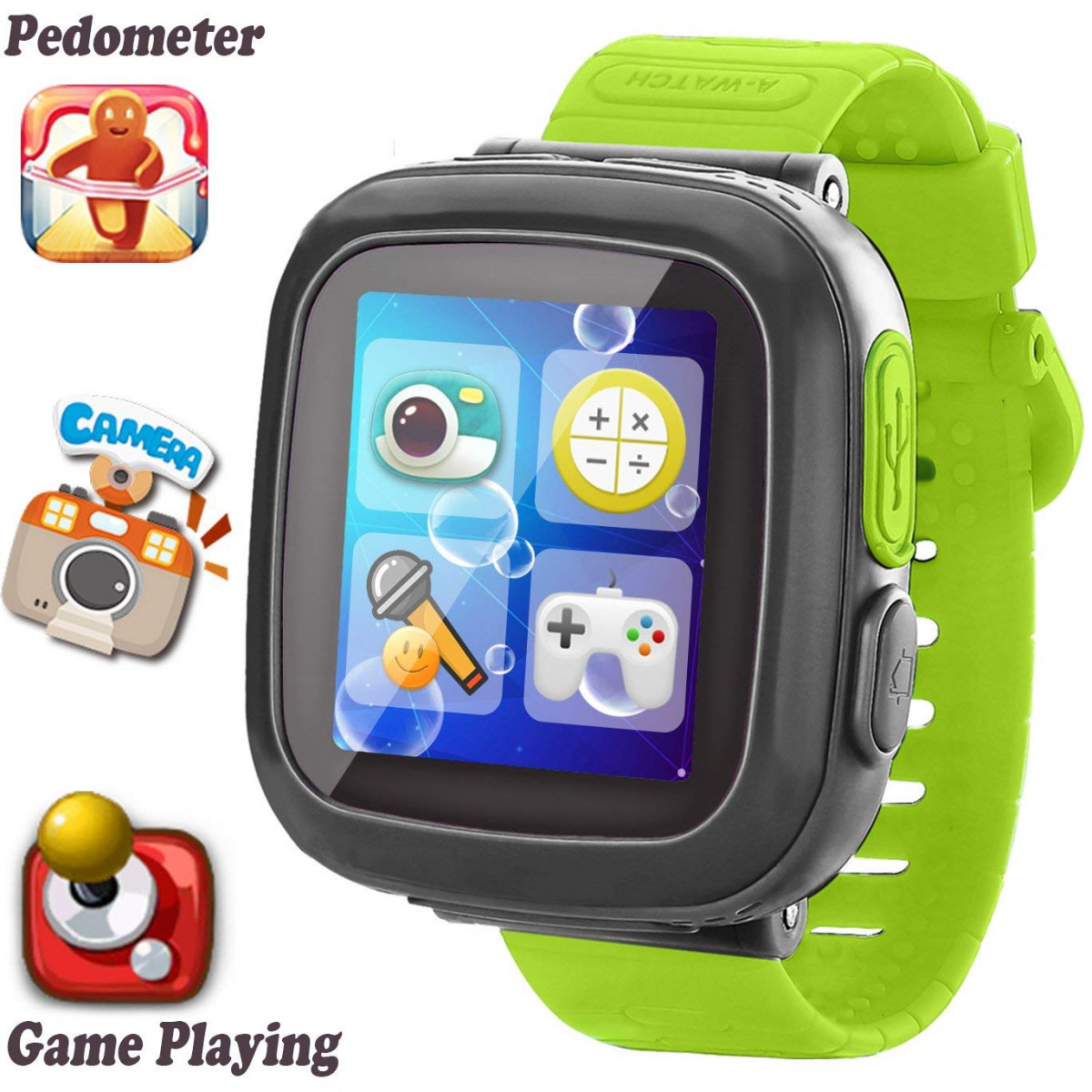 Kids Game Smart Watch Ar Pro Edition For 3 12 Year Girls Boys Learning Wrist Watch With 15 Touchscreen Camera Pedometer Timer Alarm Clock Fitness
