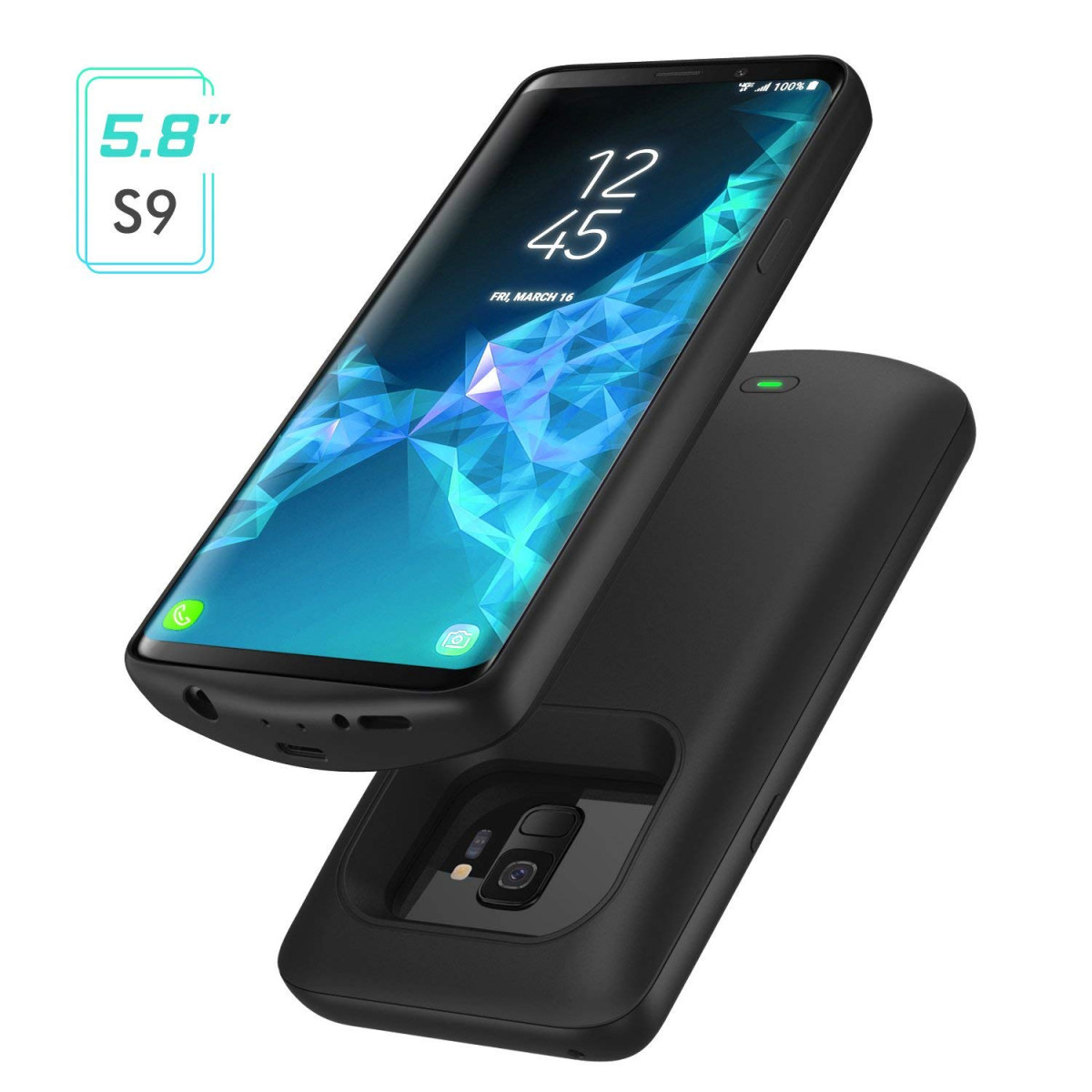 low priced 6aee5 ccba0 Galaxy S9 Battery Case, MoKo 4700mAh External Rechargeable Power Charger  Case, Soft TPU Full Edge Protective Battery Cover for Samsung Galaxy S9, ...