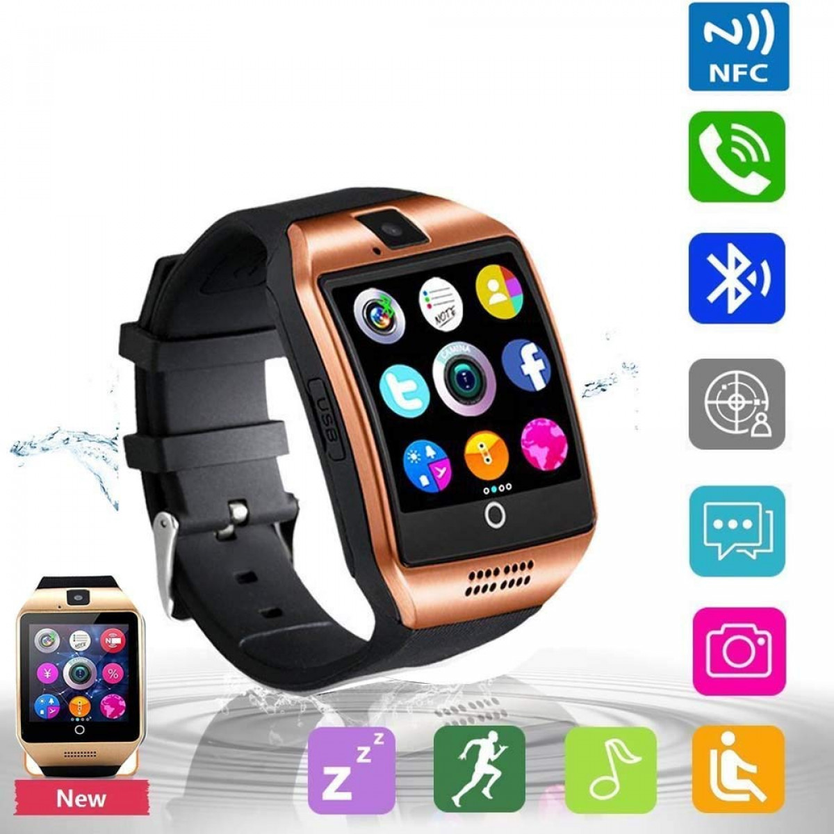 Smart Watch Bluetooth Touchscreen Smart Watches with