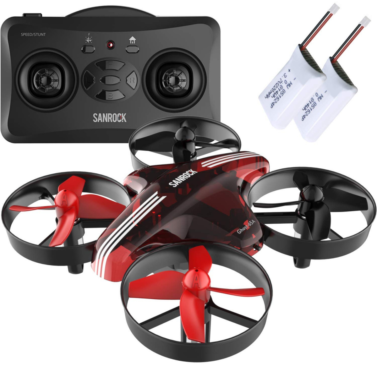 SANROCK Mini Drone GD65A Best for Kids and Beginners RC Helicopter Plane  with Altitude Hold,Headless Mode,Return Home Function,RTF 4 Channel 2 4Ghz