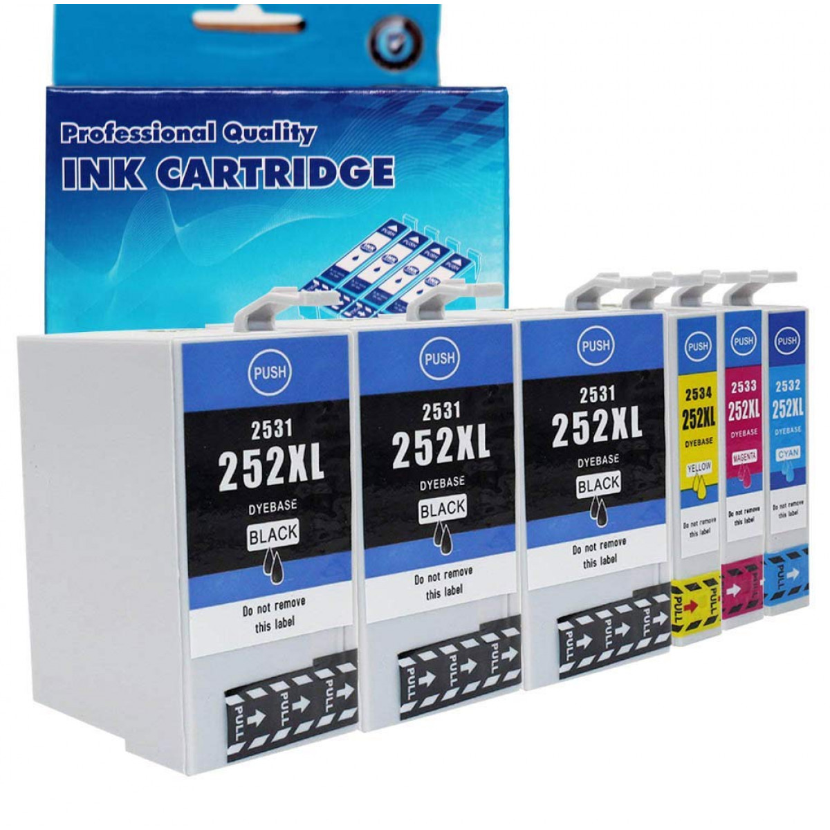 EtroInk Remanufactured for Epson 252XL 252 Ink Cartridges High Capacity  Combo Pack(3 Black MagentaCyan Yellow) Work with Epson Workforce WF-3640