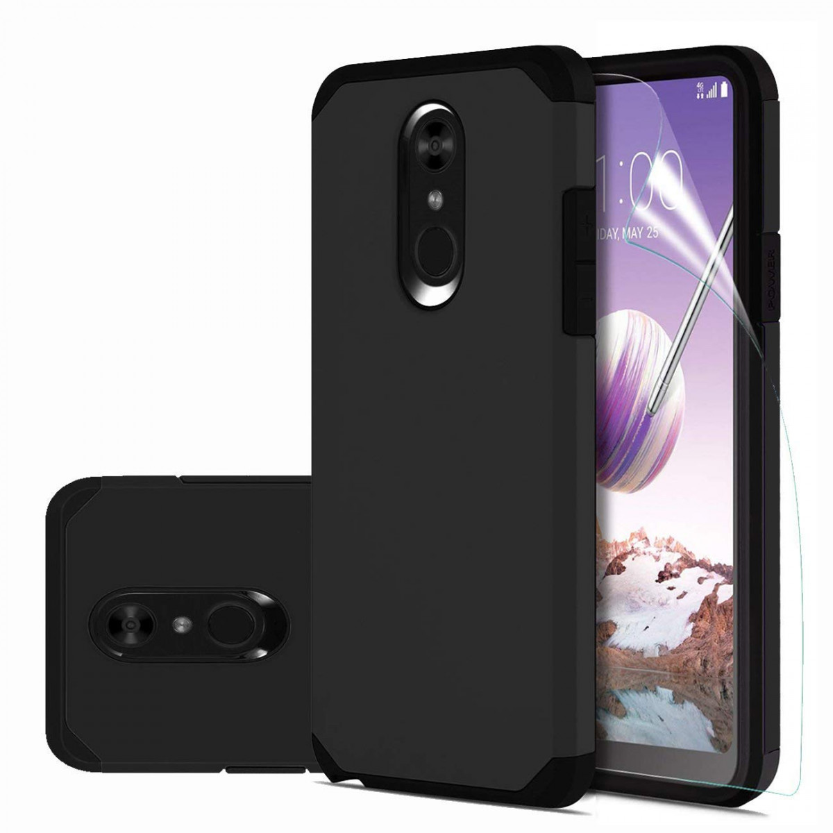 official photos 3f2df 23d61 LG Stylo 4 Case,LG Q Stylus/LG Q Stylus Plus/LG Stylus 4/LG Stylus 4 Plus  Case with HD Screen Protector,Slinco Dual Layer Hybrid Shock Proof ...