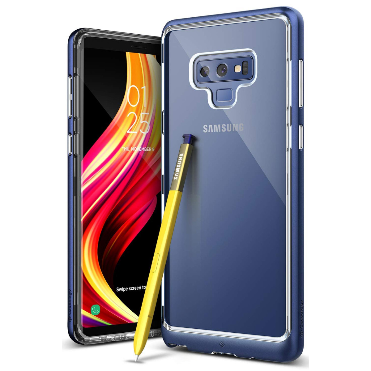 best cheap 462be f6a0f Caseology [Skyfall Series] Galaxy Note 9 Case - [Clear Back/Premium Finish]  - Ocean Blue