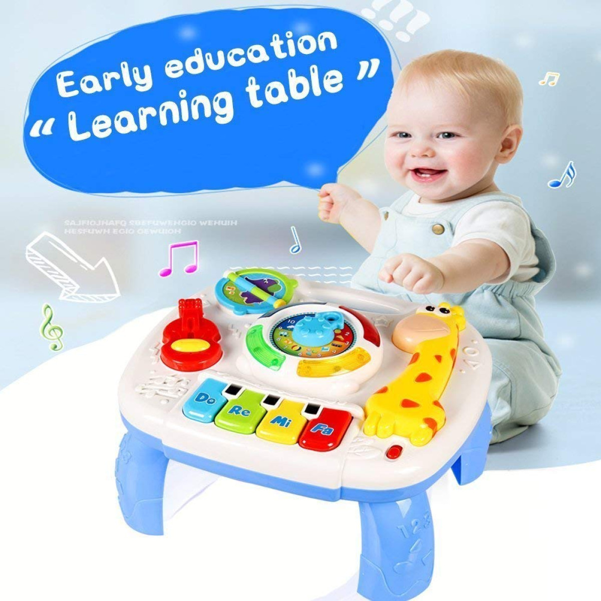HOMOFY Baby Toys Musical Learning Table 6 Months up Early ...