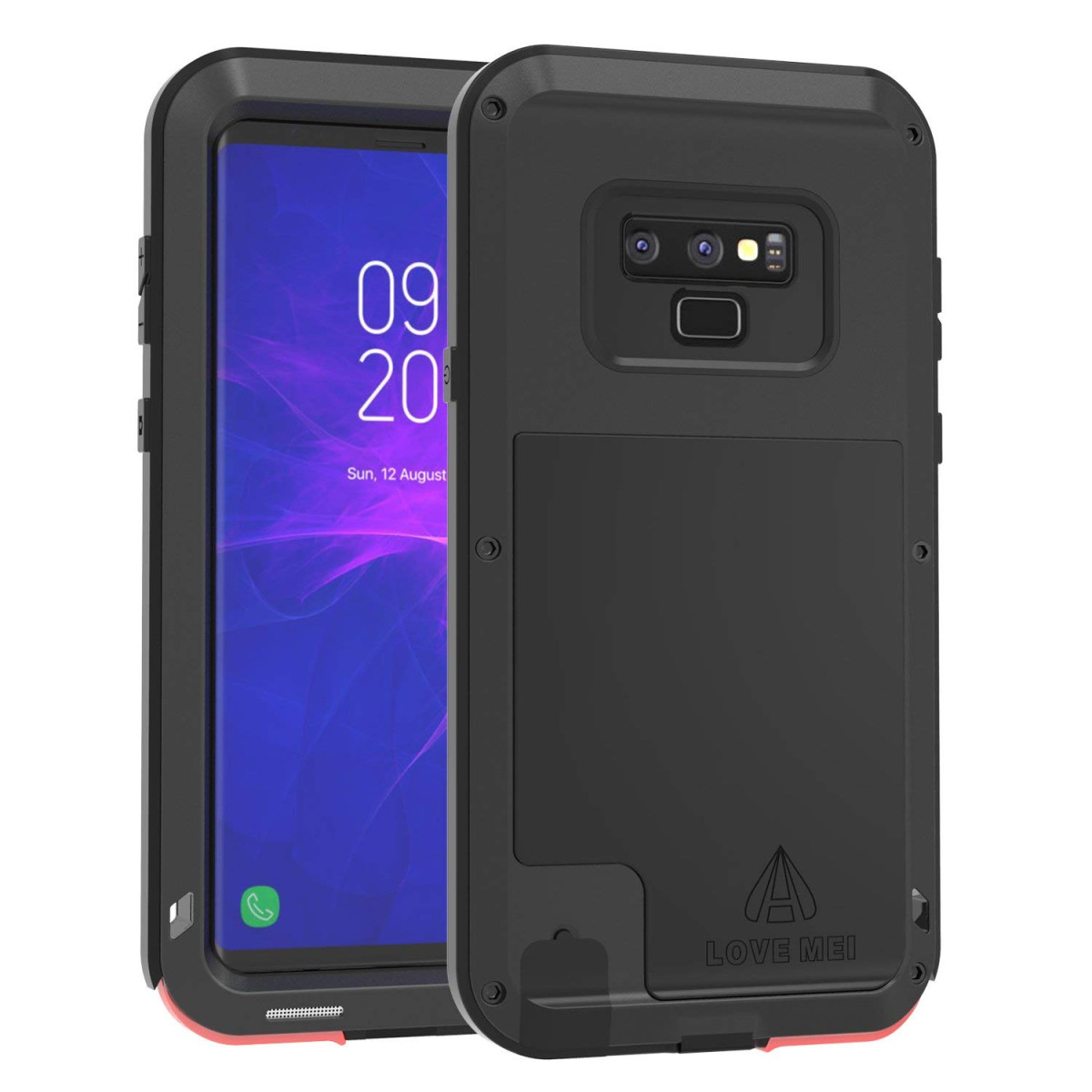 finest selection 2c6da 86465 Samsung Galaxy Note 9 Case LOVE MEI Heavy Duty Shockproof Drop Resistant  Cover Without Screen Protector Military Grade Full Body Protection Rugged  ...