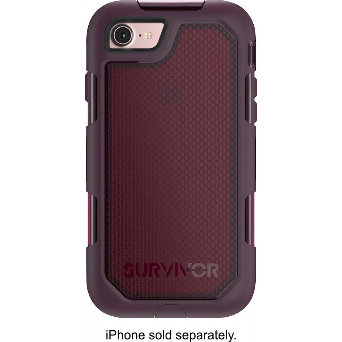 sale retailer 6d93e 03eb4 Griffin Survivor Extreme Rugged Drop Protection Case for iPhone 8 and  iPhone 7 (ONLY) (Wine/Clear)