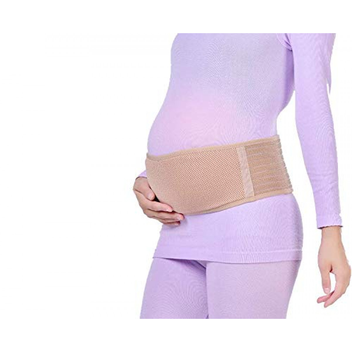 Pelvic and Back Relief Maternity Support Belt X-Small Beige Beige Pregnancy Abdominal Binder Prenatal Belly Support Band