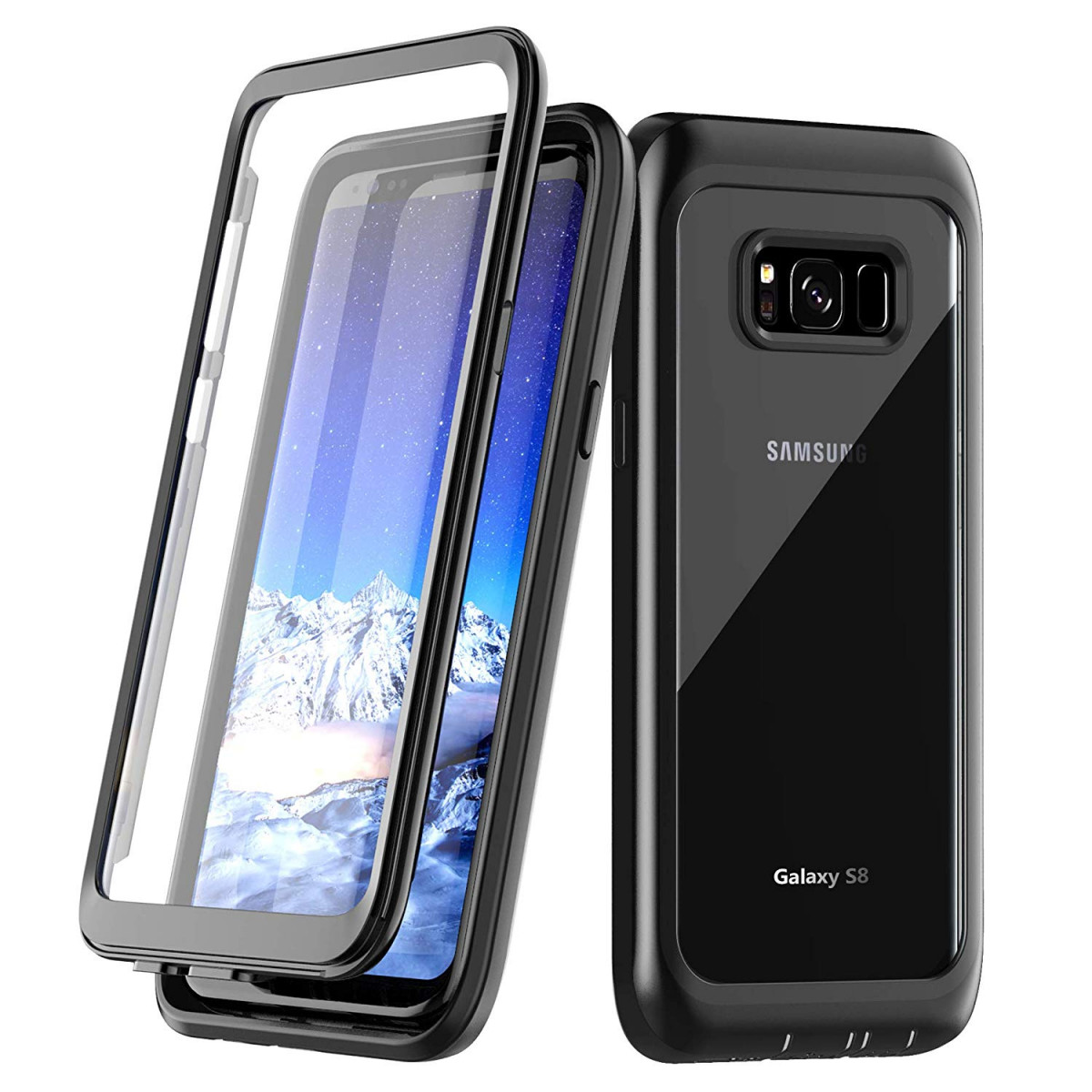 more photos 49178 43553 Samsung Galaxy S8 Case, Singdo Built-in Screen Protector Cover 360 Degree  Protection Rugged Clear Bumper Case with Kickstand for Samsung Galaxy S8 ...