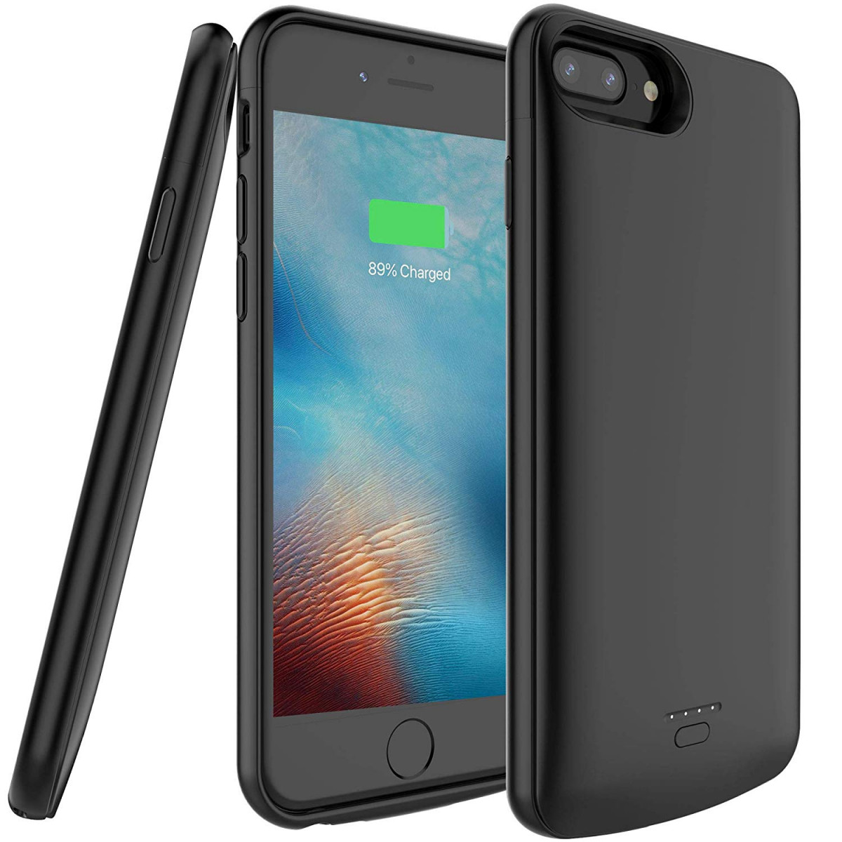 hot sale online 1c317 60b7b 5500mAh Portable Charger Case for iPhone 6 Plus/6s Plus/7 Plus/8  Plus(Support Wired Earphones),Rechargeable Protective Extended Battery Pack  Charging ...