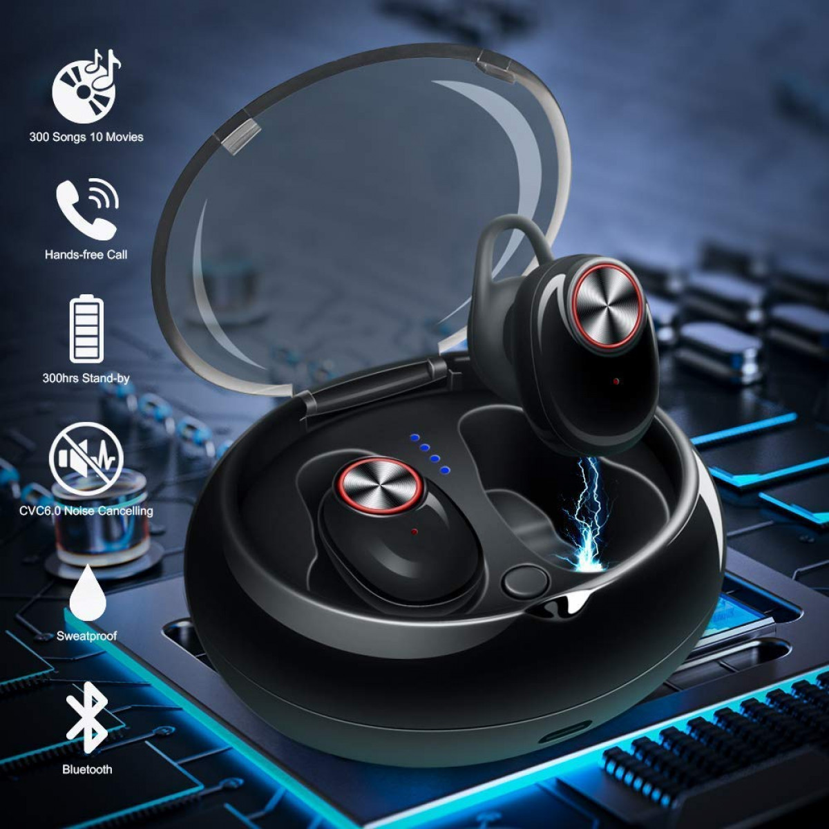305196f52f6 Mini Wireless Bluetooth Earbuds Invisible Noise Cancelling Headphone In Ear  Business Earphone Stereo Sports Car Headset with Mic ...