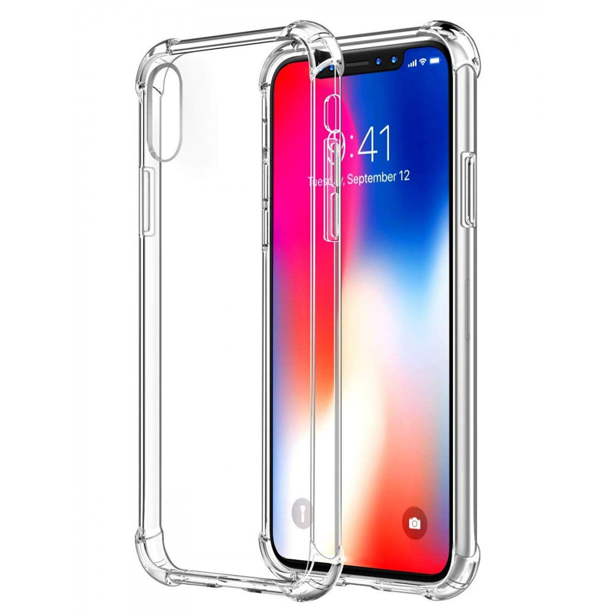 buy popular 01006 d2df7 iPhone Xs Max Case,iPhone Xs Max Case Clear,iPhone Xs Max Slim Case,ComoUSA  Slim Clear Soft Reinforced Corners TPU Cover for 6.5