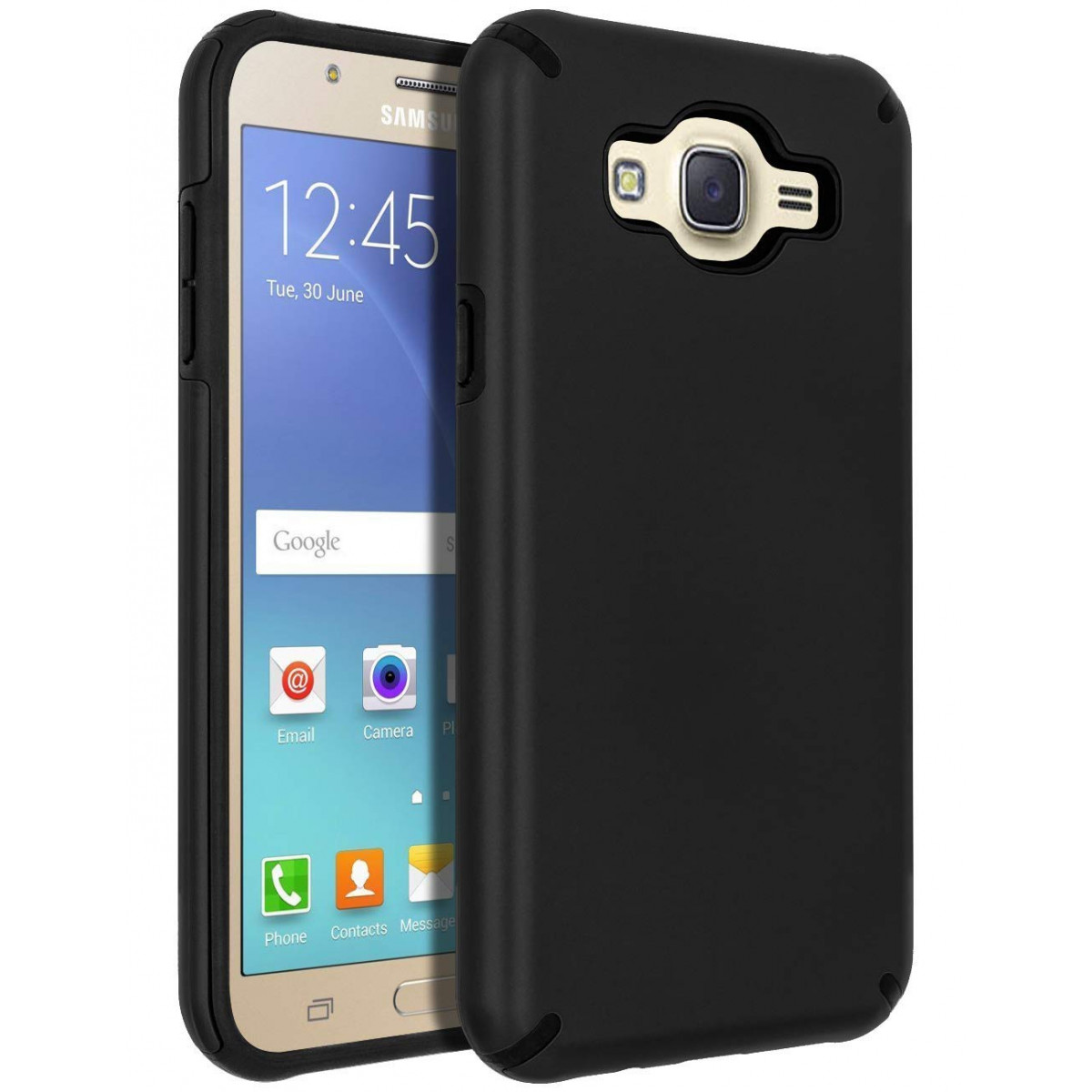 Galaxy J7 (2015) Case,Galaxy J7 Case,SENON Slim-fit Shockproof Anti-Scratch Anti-Fingerprint Protective Case Cover for Samsung ...