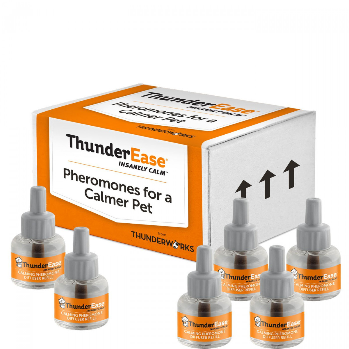 ThunderEase Cat Calming Pheromone Diffuser Refill - Reduce Scratching,  Urine Spraying, Marking, and Anxiety