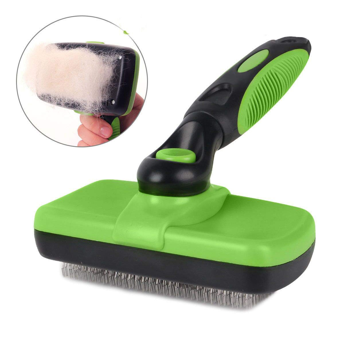 Smartelf Pet Grooming Brush Self Cleaning Slicker Brushes For Dogs And Cats Long And Thick Hair Best Pet Shedding Tool For Grooming Loose