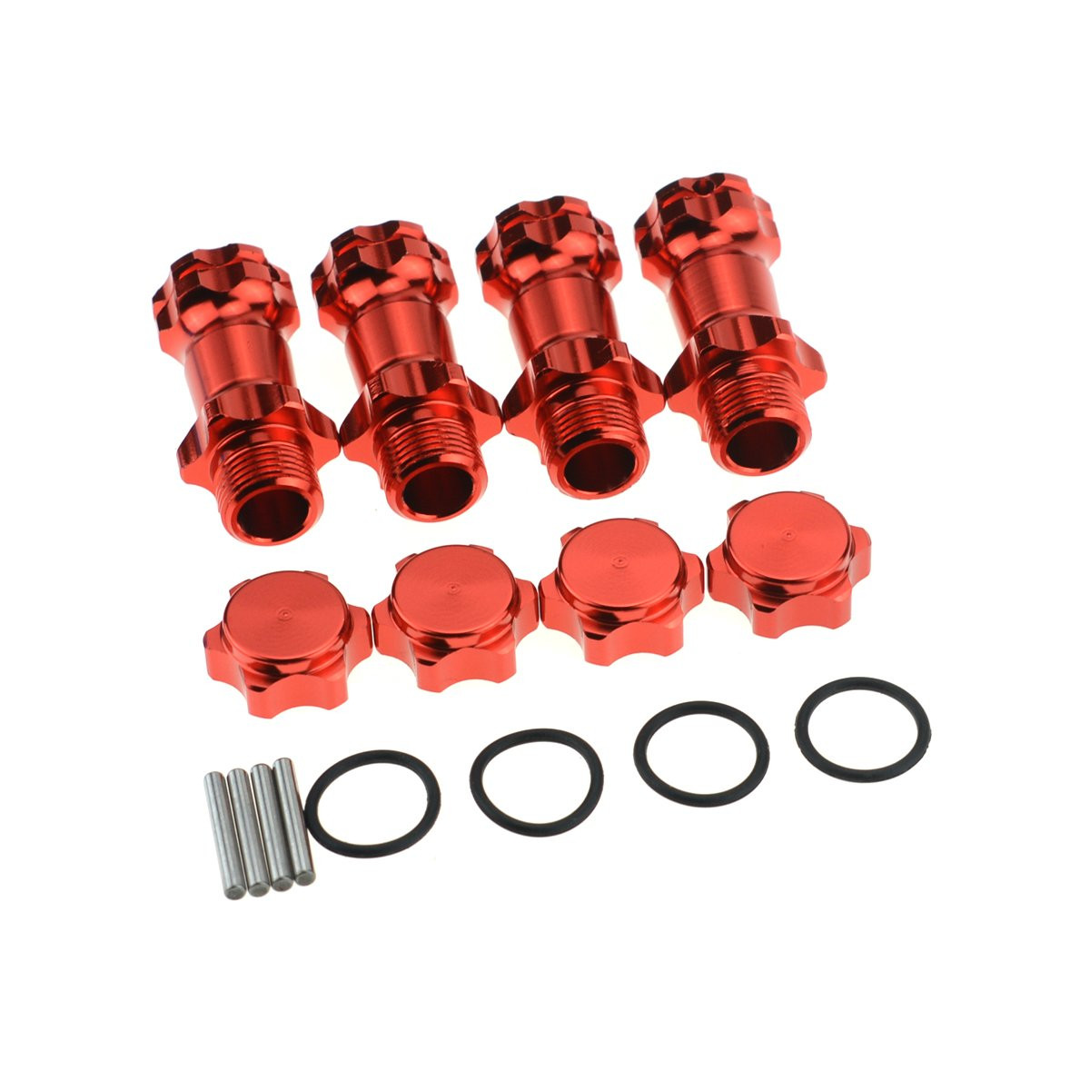 Alloy Wheel Hex Hub M17 17mm Nut Caps Adapter Anti-dust Cover For 1//8 RC HSP HPI