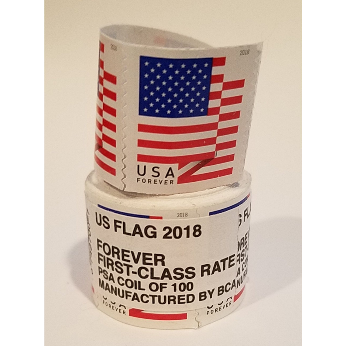 Usps Forever Stamps Coil Of 100 Us Flag Postage Stamps 2017 Or 2018 Roll