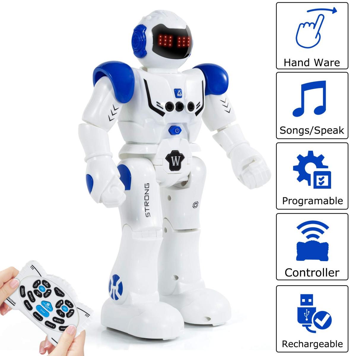 New Interactive Robot Walking Smart Robot Toy Senses Gesture Control Kids Gifts