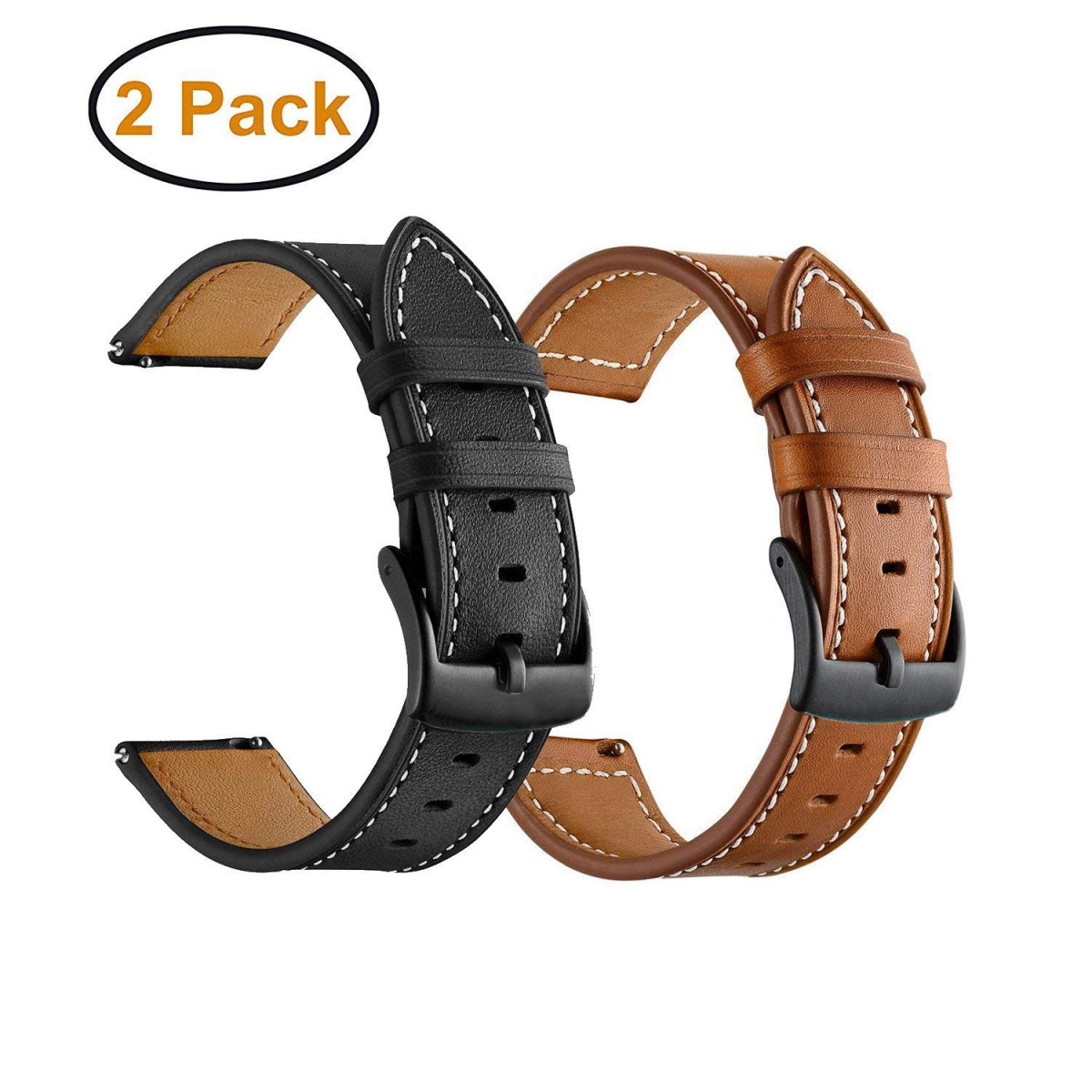 Quick Release Leather Watch Band