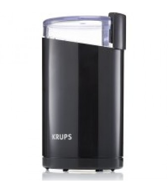 KRUPS, Electric Coffee and Spice Grinder, Stainless Steel blades, Black F2034251