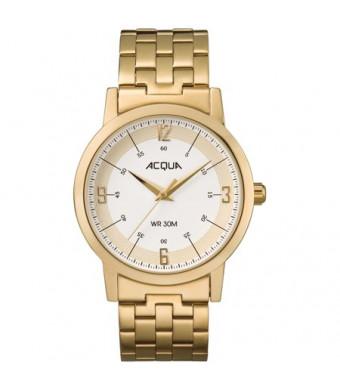 Acqua by Timex Men's Gold-Tone/Cream Watch, Stainless Steel Bracelet