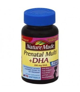 Nature Made Prenatal Multi + DHA Softgels, 70 count