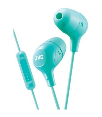 JVC HAFX38MG Marshmallow Inner-Ear Headphones with Microphone (Green)