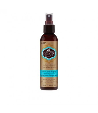 HASK Argan Oil Repairing 5 in 1 Leave-In Conditioner, 6oz.