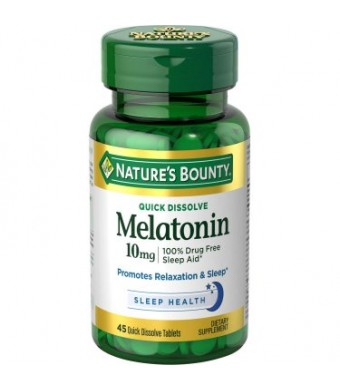 Nature's Bounty Melatonin Tablets, 10mg, 45 Ct