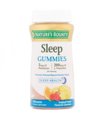 Nature's Bounty Sleep Tropical Punch Flavored Gummies, 60 count