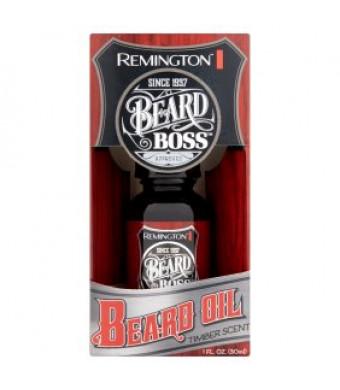 Remington Beard Boss Approved Timber Scent Beard Oil, 1 fl oz