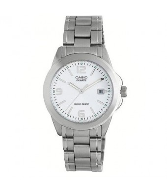 Casio Men's Silver Dial Watch, Stainless Steel Bracelet