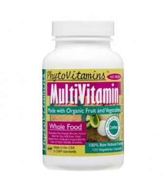 PhytoVitamins MultiVitamin NO IRON 120 Veg Capsules (Made with Organic)