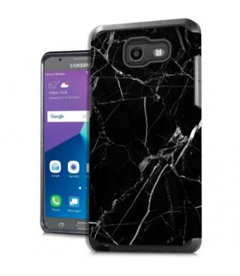 MUNDAZE Black White Marble Design Case For Samsung Galaxy J7 2017 Phone