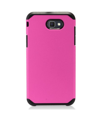 Hot Pink Slim Double Layered Case For Samsung Galaxy Halo / Galaxy J7v Phone